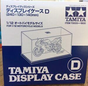 TAMIYA 73005 MOTORCYCLE Display case Clear plastic top & black base 1:12th bikes