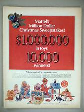 Mattel Toys 7-Page PRINT AD - 1967