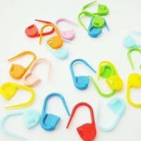 100x Kunststoff Knitpro Maschenmarkierer Maschenmarker Locking Stitch Gesch U9R5