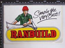 VINTAGE RANBUILD STEEL SHEDS AUSTRALIA ADVERTISING SHOP POS PROMO STICKER
