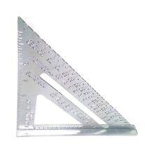 "7"" Aluminum Alloy Speed Square Use as Protractor Miter Carpenter Framing Square"