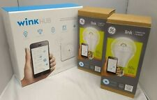 Wink hub (Pwhub-Wh01) and 2 Ge link connected Led bulbs (Psb19-Sw27), 12watt Nib