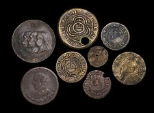 Assorted lot of 8 Tokens and Jetons, Nuremberg, England, Canada