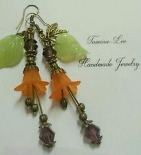Lucite Bronze Fashion Earrings
