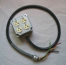 Carol Electrical Cord Cable 12/4 Type SOW-A Stranded Copper Wire Pigtail Outlets
