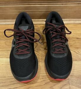 Asics Gel-Kayano 25 Lite Shoes Size 10 Black Red 1011A022 Flaw - Tiny Hole
