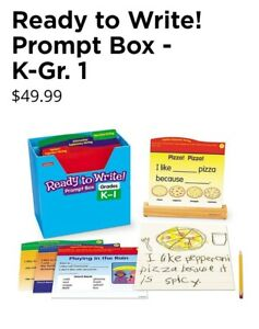 BRAND NEW IN BOX Lakeshore® Ready to Write! Prompt Box #PP567, Grades K-1