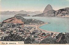 Rio de Janeiro Brazil panoramic birds eye view of area antique pc Z15985