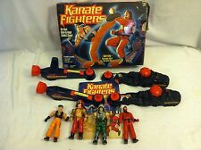 Vintage Milton Bradley 1990's Electronic KARATE FIGHTERS 4 FIGHTER FIGURES