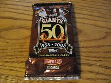 SF Giants 50 year anniversary SGA Baseball cards Unopened 1958 - 2008