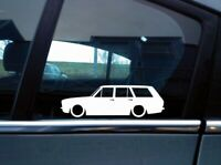 x2 Lowered car silhouette stickers for Ford Cortina Mk2 estate wagon