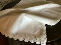 Vintage white rectangular table cloth