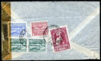 BOLIVIA TO SPAIN Air Mail Censored Cover, 1943, VERY NICE!