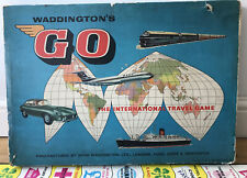 Vintage 1961 Waddingtons Go Board Game The International Travel Game