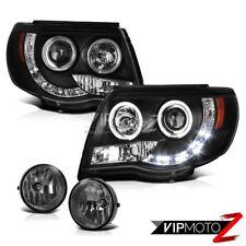 05-11 Toyota Tacoma Halo Angel Eye LED DRL Projector Headlights Foglights PAIR