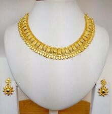 Indian Asian Bridal Jewellery Ethnic Wear 22k Gold Plated Gulubandh Necklace Set