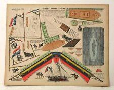 Pellerin Imagerie D'Epinal- No 33 Sloop Bateau de Peche G. vintage paper model
