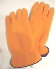 Ladies Women's Karen Scott Fleece Gloves,Orange, O/S