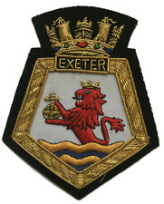 gold wire blazer badge HMS RALEIGH ~ OFFICIAL LICENCED PRODUCT