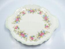 "Royal Albert Bone China Colleen Floral Handled Cake Plate, 9"""