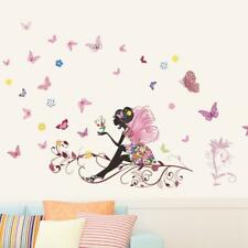 New Butterfly Flower Fairy stickers Bedroom Living Room Walls Home Decor