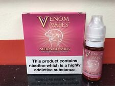 VENOM VAPES #11 MERMAID MILK. STRAWBERRY VANILLA CREAM 6mg Nic, 3 x 10ml Bottle
