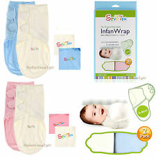 Original Adjustable 2 PACK Baby Infant Infan Swaddle Wrap 100% Cotton 7-15lbs