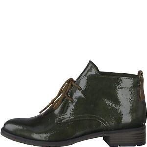 Marco Tozzi 2-25118-23-770 Khaki Patent Boots Sizes 4,6,6.5,7,8