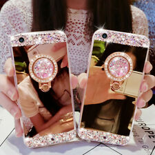 Lady Girl Glitter Bling Diamond Mirror Stand Case Cover For Samsung Galaxy Phone