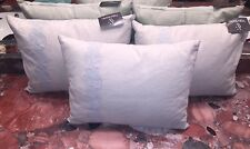 "NWT Vera Wang Home Bedding Floral Freesia 12"" x 16"" Throw Pillows Taupe Blue"