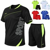 GenericMen Casual Tracksuit T-Shirt and Shorts Summer Running Jogging Set
