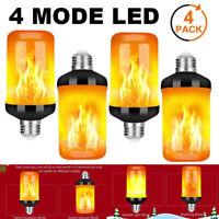 4X 4 Modes E27 LED Burning Light Flicker Flame Bulb Fire Effect Home Lamp Decor