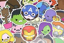 100  Cute Superhero Avengers Marvel Stickers for Hydro Flask Laptop Suitcase Car