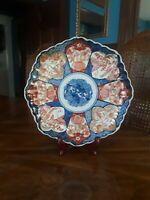 Japanese Imari porcelain plate, circa 1900.