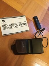Konica Minolta Maxxum 3500xi Shoe Mount Flash And Rc-1000 Remote Control