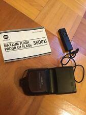 Konica Minolta Maxxum 3500xi Shoe Mount Flash And Rc-1000 Remote Control