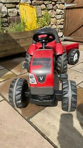 ROLLY TOYS Valtra Ride On Pedal Tractor with Trailer