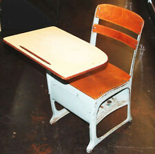 Lot of 3- Vintage School Student Child Desk/Chair w/Cubby ENVOY American Seating