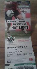 Ticket Hannover 96 - FSV Mainz 05 , Sammelkarte, Ultras, HSV, Rote Kurve, 18