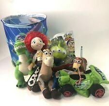 Disney Pixar Toy Story Bundle Bullseye Jessie Rex Car Slinky Alien Squishy