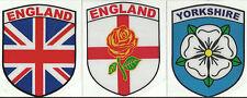 Set of 3 Inghilterra English Forma Di Scudo Interno Adesivo Finestrino Auto