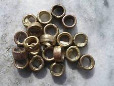 20 perlas de latón ghana ashanti breve tubos de 4 x 8 mm