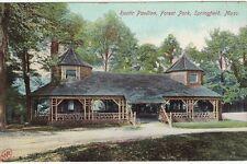 Antique POSTCARD c1907-20 Rustic Pavilion Forest Park SPRINGFIELD, MA MASS