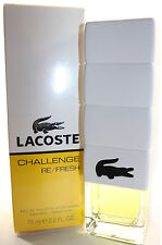 LACOSTE CHALLENGE REFRESH BY LACOSTE 2.5/2.6 OZ EDT SPRAY FOR MEN NEW IN BOX