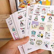 16Sheets 320Pcs Diary Deco Stickers Labels Scrapbook Journal Stationery Planner