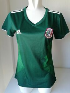 NEW Women's ADIDAS Mexico Football Soccer Climalite Jersey T Shirt Size L