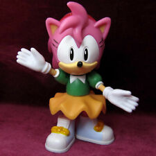"""3"""" 7cm JAZWARES CLASSIC AMY ROSE SONIC THE HEDGEHOG FIGURE TOY SEGA JOINTED RARE"""