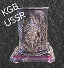 KGB USSR Desk Bronze Pencil holder Propaganda Kremlin Moscow RED Star Space 1961