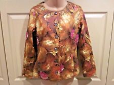 WOMENS JACKET SIZE SMALL/4 CHICOS REBECCA JACKET SIZE 0 FIREGLOW MIDNIGHT FLORAL