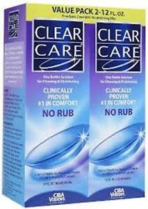 CLEAR CARE CIBA VISION CONTACT LENS SOLUTION - Value Pack - (2) 12oz.